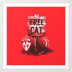 Free cat Art Print