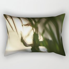 Dancing people, dance, shadows, hands and plants, blurred photography, dancer, forest, yoga Rectangular Pillow