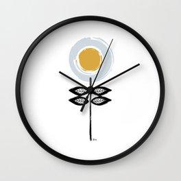 Scandinavian Flower Wall Clock