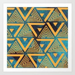 Triangle Pattern 2 Art Print