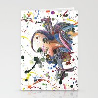 tank girl Stationery Cards featuring Tank Girl by Abominable Ink by Fazooli