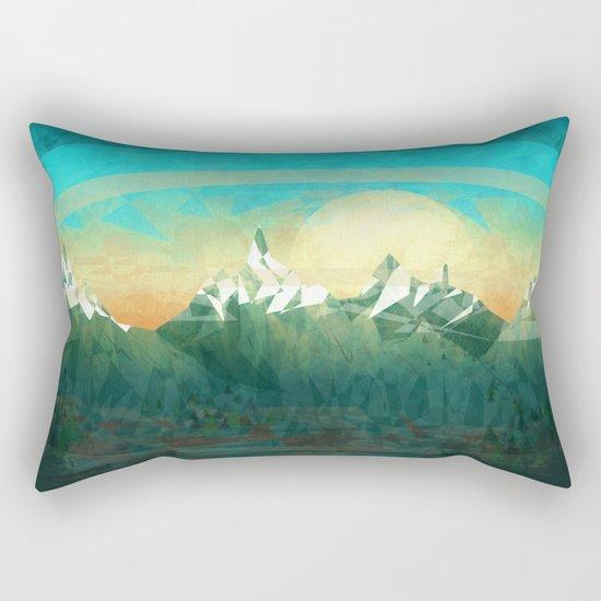 Mountains abowe the blue sky Rectangular Pillow
