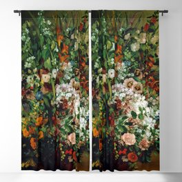 Bouquet of Flowers in a Vase by Gustave Courbet (1862) Blackout Curtain