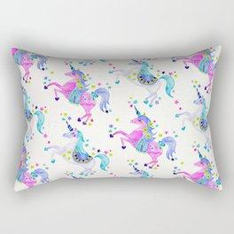 Pastel Unicorns Rectangular Pillow
