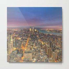 New York City Skyline Sunrise Metal Print