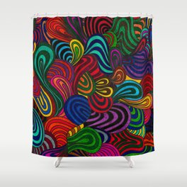 Waves of Freedom #Z Shower Curtain