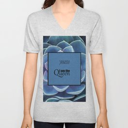Princess and Queen succulents Unisex V-Neck