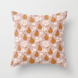 Fall Pears Throw Pillow