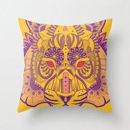 Zentangle Tiger  Throw Pillow