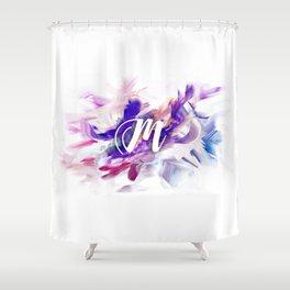 Letter M Shower Curtain