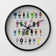 Pixel Supervillain Alphabet Wall Clock