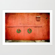 Christmas Barn Art Print