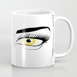 Woman with Golden Eyes Coffee Mug