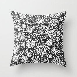 of flowers and planets Throw Pillow