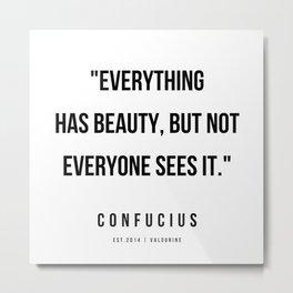 1  | Confucius Quotes | 200202 Metal Print