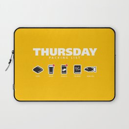 THURSDAY - The Hitchhiker's Guide to the Galaxy Packing List Laptop Sleeve