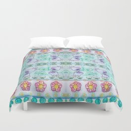 Bluebells and other flowers Duvet Cover