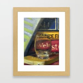 Warped Words Framed Art Print