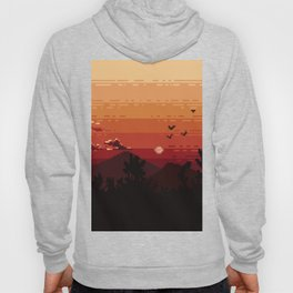 Pixel sunset  Hoody