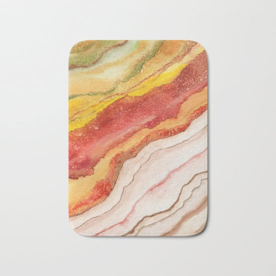 AGATE Inspired Watercolor Abstract 03 Bath Mat