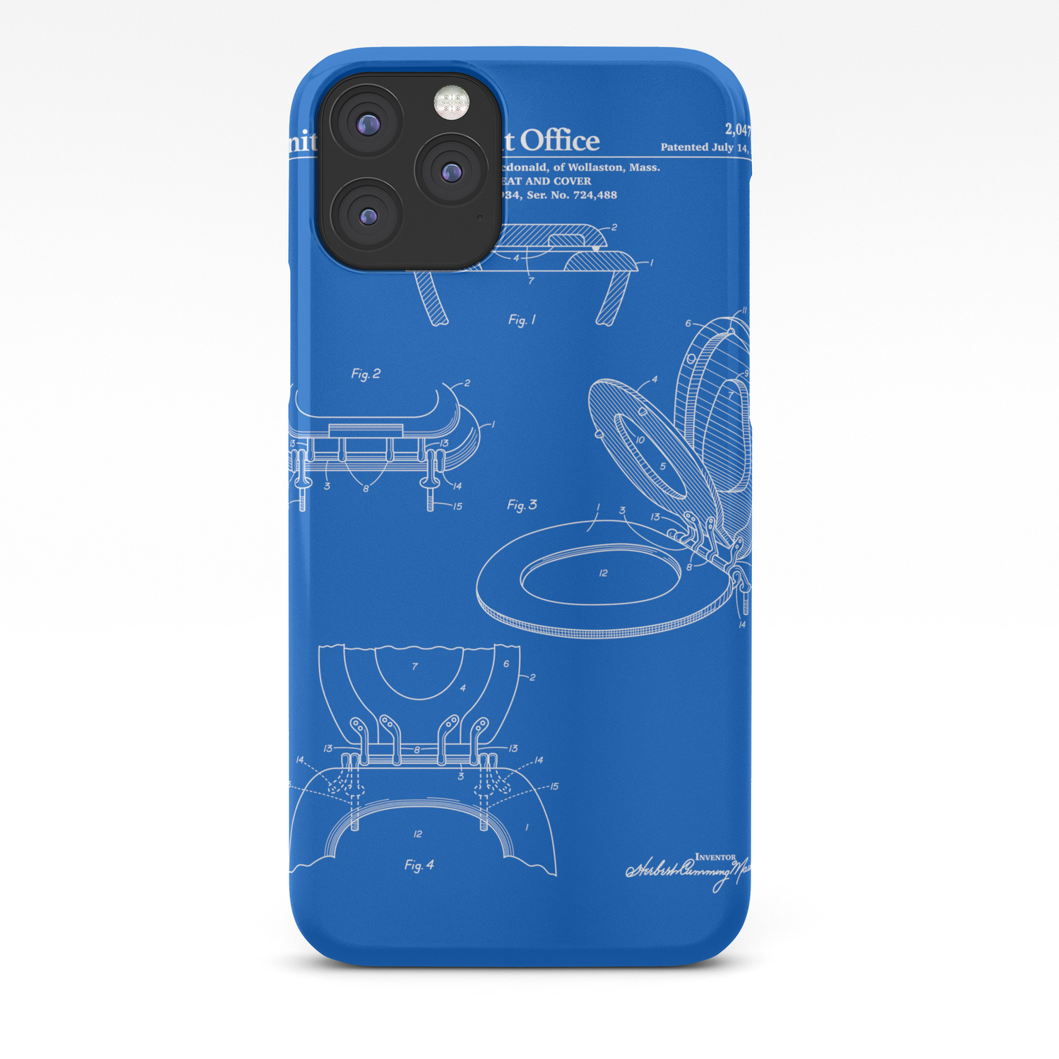 Toilet Seat And Cover Patent Blueprint Iphone Case By Finlaymcnevin Society6