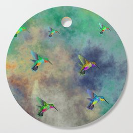 Secret Escape Hummingbird Design Cutting Board