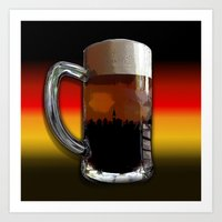 german Art Prints featuring German Sunset by G.B.Artdesign