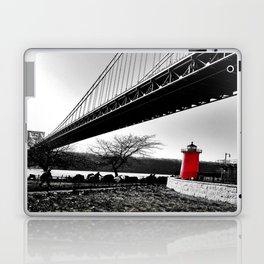 The Little Red Lighthouse - George Washington Bridge NYC Laptop & iPad Skin