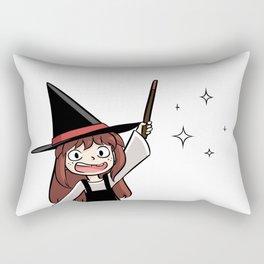 Cute witch girl Rectangular Pillow