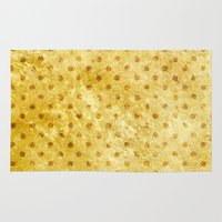 stay gold Area & Throw Rugs featuring Stay Gold #society6 by 83 Oranges™