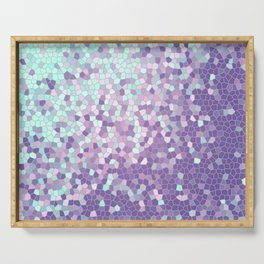 Aqua and Violet Purple Mosaic Serving Tray
