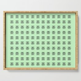 chinese ideogram: the tea 3 Serving Tray
