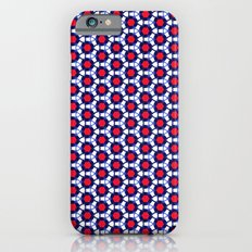 Red & Blue Pattern iPhone 6s Slim Case