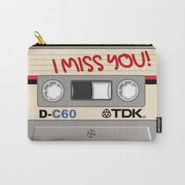 Vintage Audio Tape - TDK - I Miss You! Carry-All Pouch