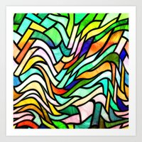 stained glass Art Prints featuring Stained glass by haroulita
