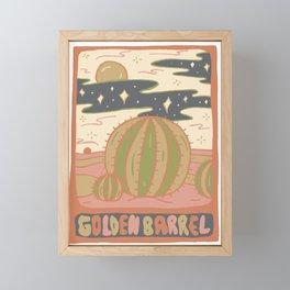 Cactus Tarot Cards- Golden Barrel Framed Mini Art Print