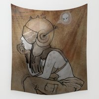 pilot Wall Tapestries featuring Pilot by Captain MaryJane