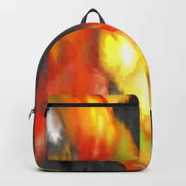 Black Red Yellow White Bold Bokeh Cool Pop Art Abstract Backpack