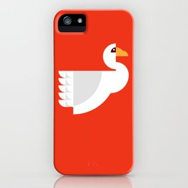 Geometric swan iPhone Case