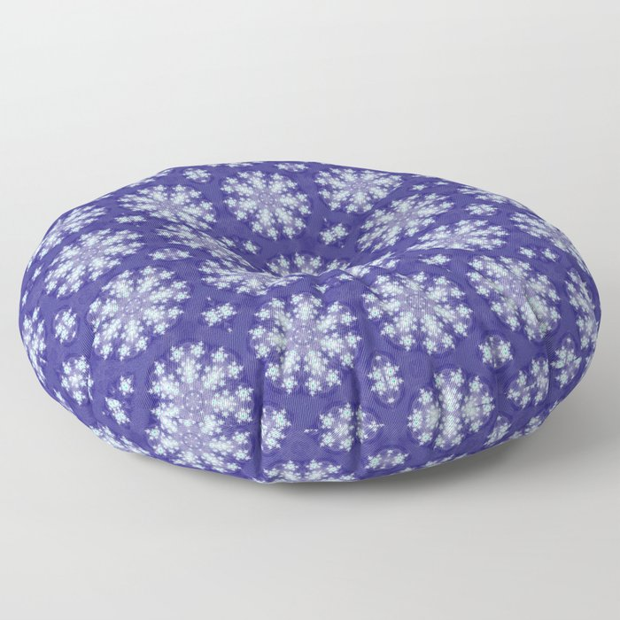 Frozen Snow Flakes Floor Pillow