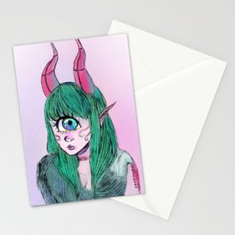 Cyclops with fur Stationery Cards