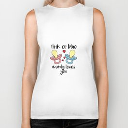 Pink or blue Daddy Loves You Birth Baby Father Biker Tank
