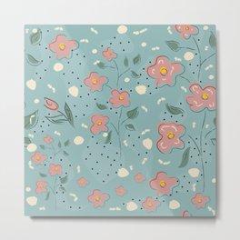 Cute Flowers Metal Print
