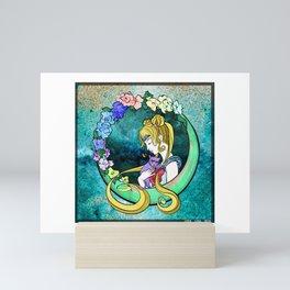 Usagi + Luna = Sailor Love Moon Mini Art Print
