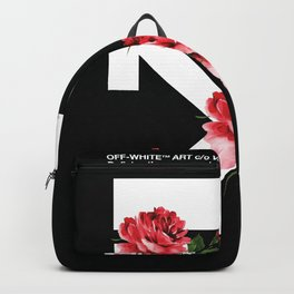 Off White x Roses fanmade pop art painting Backpack