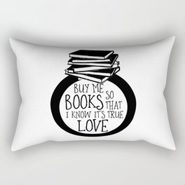 Bookish Engagment Rectangular Pillow
