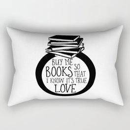Bookish Engagment Rectangular Pillow