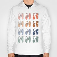 nike Hoodies featuring Colored Nike sneakers illustration by Rocio P. Vigne