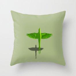 Parot (Global Warming) Throw Pillow