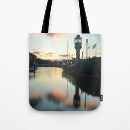 Hull Marina at Sunset Tote Bag